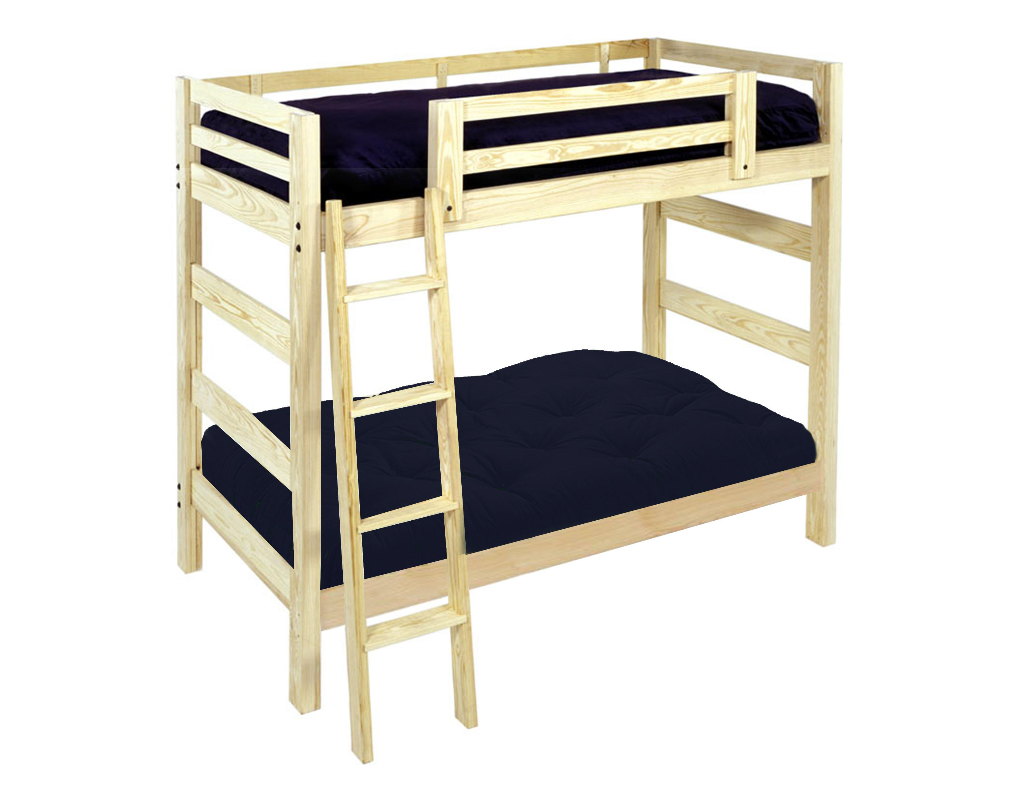 Wood loft beds attractive loft bed with futon futon bunk for Bunk bed frames for sale