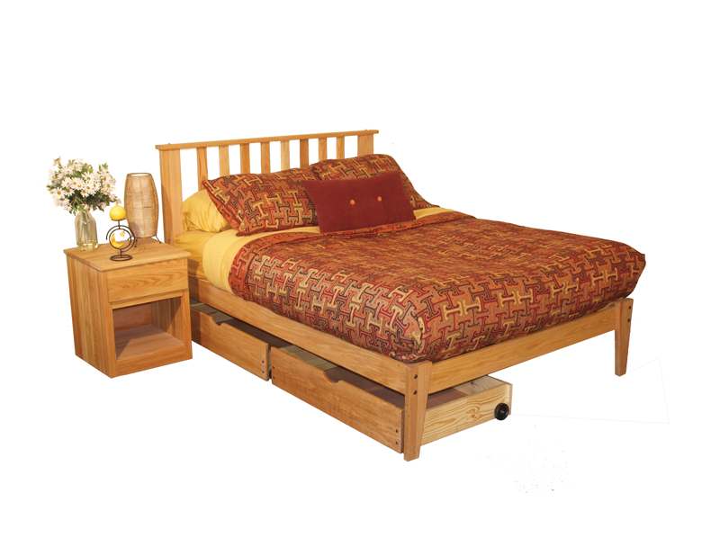 Oak Bedroom Set - Queen Size - (4 Pieces) -