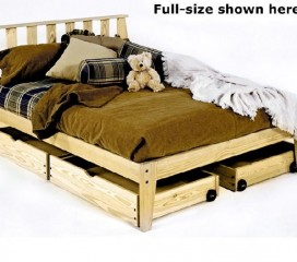 * The Rock - Solid Wood Platform Bed with Headboard - Mission Style