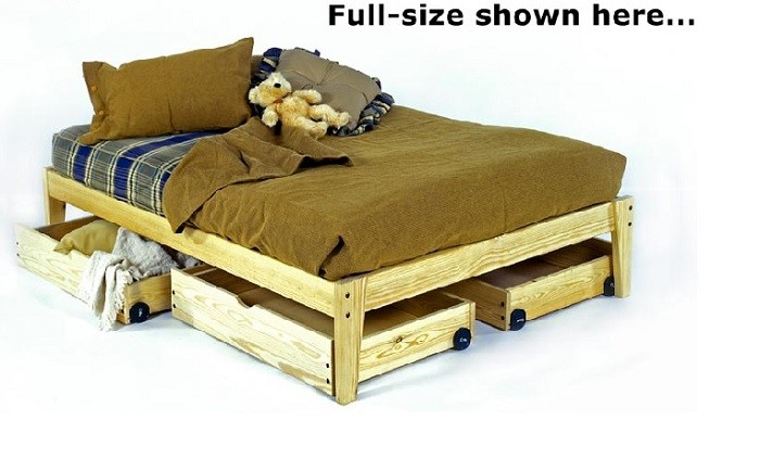Queen Size Solid Wood Platform Bed