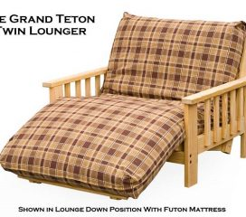 Lounger Futon Frame - Twin, Full and Queen Size