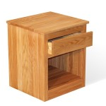 1 Drawer Oak Nightstand - Linseed Oil Finish