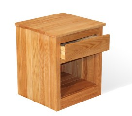 1 Drawer Oak Nightstand