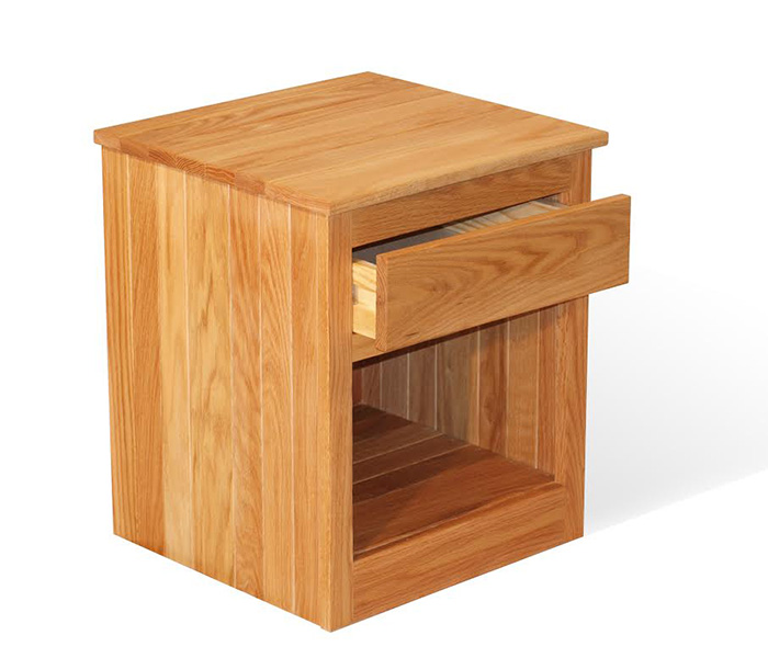 One Drawer Oak Nightstand