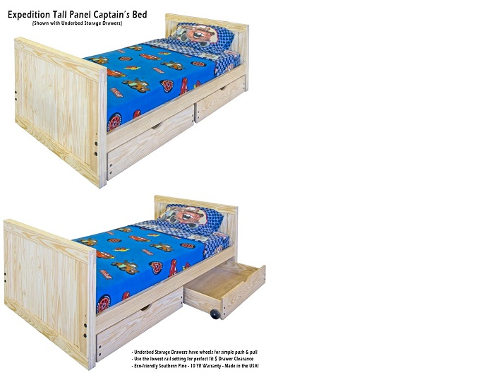 twin expedition beds - Twin Captains Bed