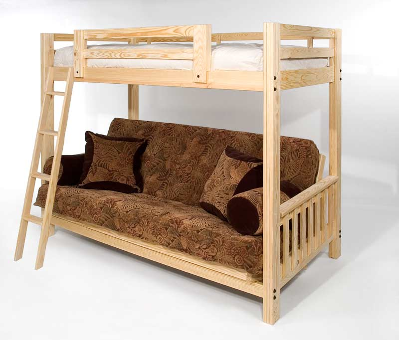 Solid Wood Twin over Full Futon Bunk