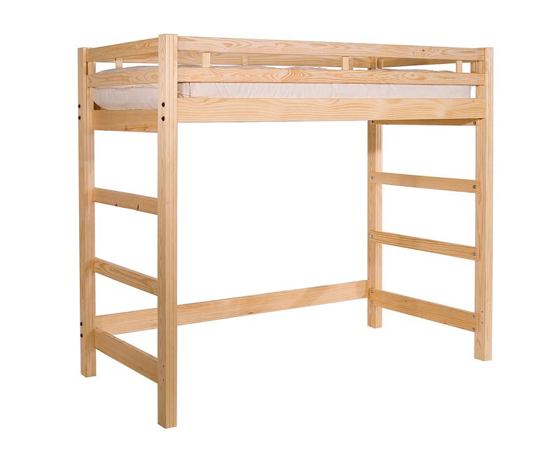 Liberty Twin Loft Bed Simple Solid Wood Super Strong
