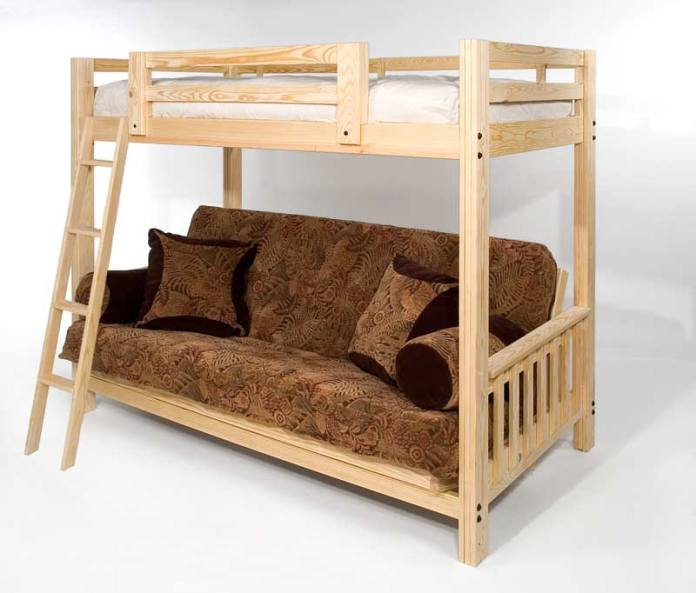 freedom futon bunk     freedom futon bunk package deal  includes full size mattress    rh   roomdoctor