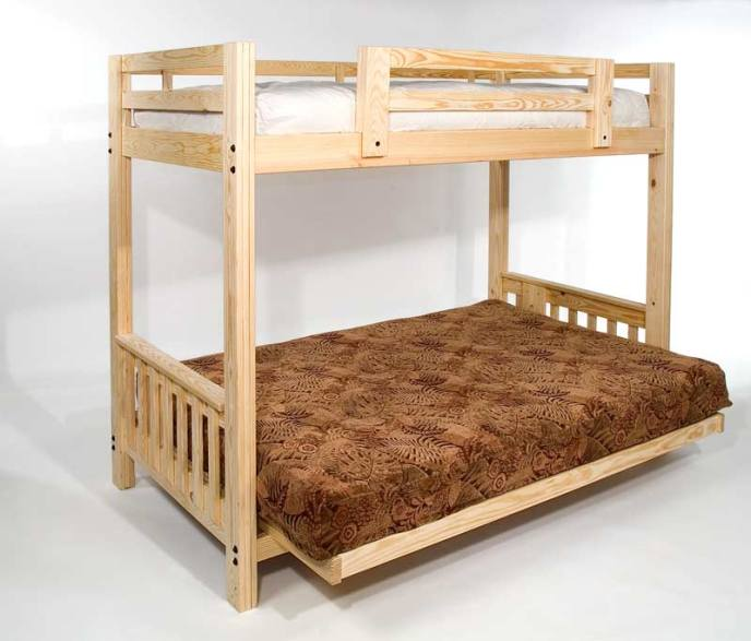 Full Size Bunk Bed With Futon Roselawnlutheran