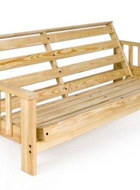 Solid wood futon frame