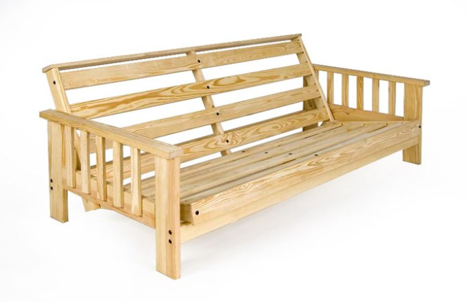 Solid wood futon frame