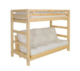 Liberty Wood Futon Bunkbed Package Deal w/ Full Futon Mattress