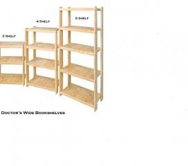 Solid Wood Bookshelf - Size