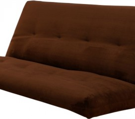 Upholstered Innerspring Futon Mattress - Chocolate Suede