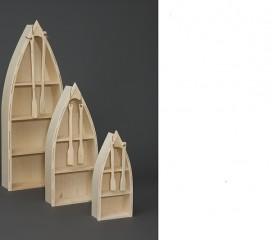 Valley Series Pine Boat Bookshelves - small, medium, large