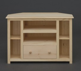 Valley Series Pine TV Stand - Notched Corners