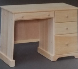 Valley Series Pine Desk - raised