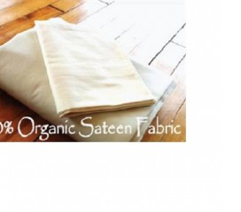 100% Organic Sateen Sheets in Natural-White Lotus