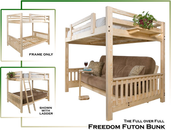 Full over Full Futon Bunk bed