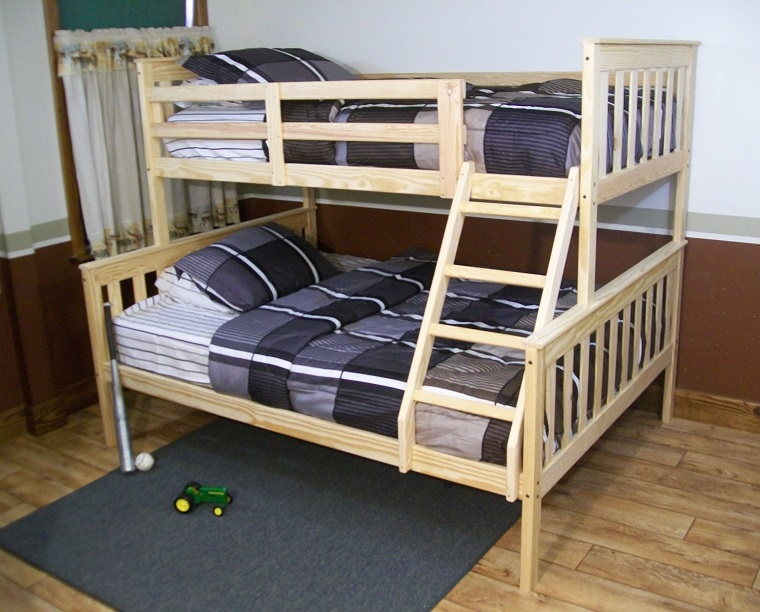 Twin over full versa bunk bed for Unfinished loft bed