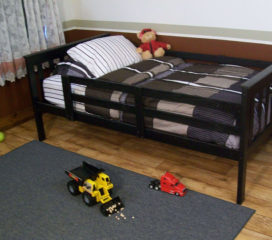 Platform Bed with Safety Guard Rails - Twin or Full Size