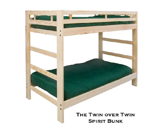 twin bunk bed     twin bunk bed   spirit style    rh   roomdoctor