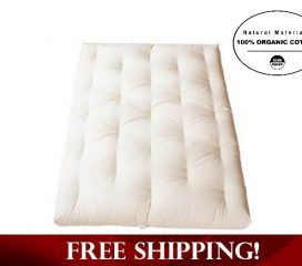 ALL ORGANIC COTTON FUTON WITH NO FIRE RETARDANT