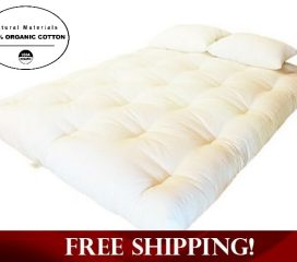 ORGANIC COTTON, WOOL AND FOAM DREAMTON FUTON