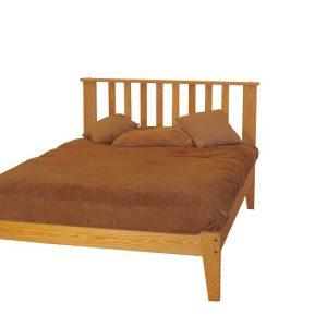 Queen Oak Mission Platform Bed package