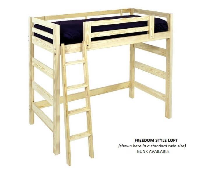 full size loft beds queen size bunk beds. Black Bedroom Furniture Sets. Home Design Ideas