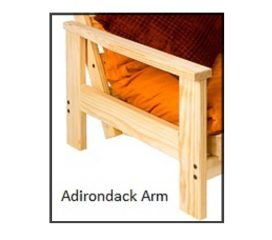 Futon Frame - Twin, Full, Queen Avail - Adirondack Armrest starting at