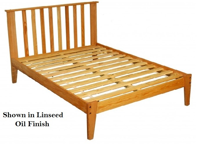 Queen Oak Mission Platform Bed Oil Finish