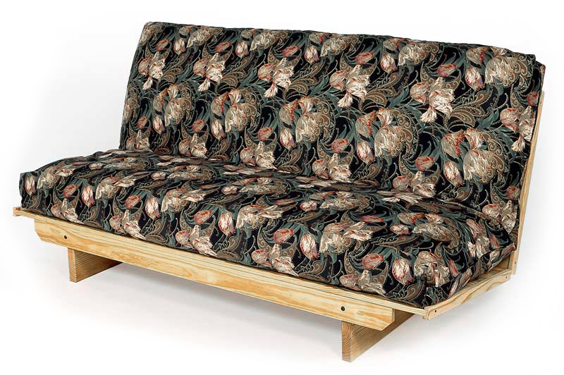Solid wood armless futon frame