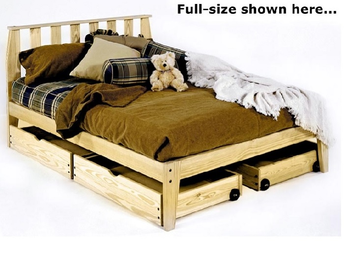 The Rock Solid Wood Platform Bed With Headboard Mission Style