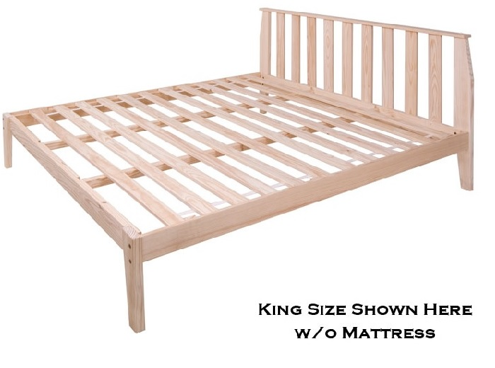 The Rock Solid Wood Platform Bed With Headboard