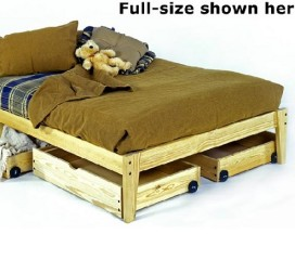 * The Pine Plateau - the Ultimate Solid Wood Platform Bed