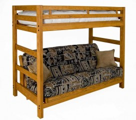 *Liberty Solid Wood Futon Bunk -- A Loft Bed and Futon Sofabed:  ALL in One!