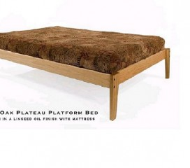 * Oak Platform Bed - Simple, Sleek & Elegant