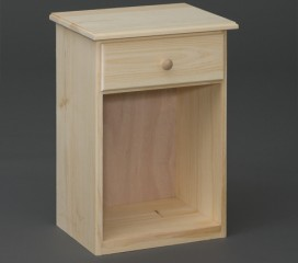 Valley Series 1 Drawer Pine Petite Nightstand