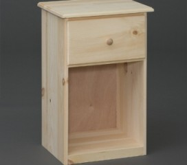 Valley Series 1 Drawer Pine Nightstand