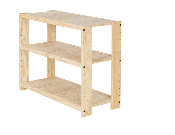 Solid Wood Bookshelf Size Xtra Wide