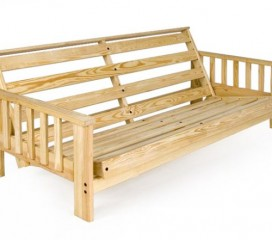 Solid Wood Futon Frame - KD Style- 4 Arm Styles to Choose