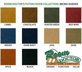Futon Covers - Micro Suede Fabric - Solid Colors