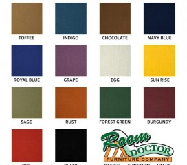 Futon Covers - Twill Fabric - Solid Colors