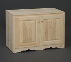Valley Series Pine TV Stand - 2 Full Size Door