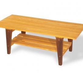 Viking Coffee Table in Two-Tone Finish