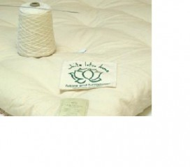 White Lotus Wool Bed Topper in 100% Organic Cotton