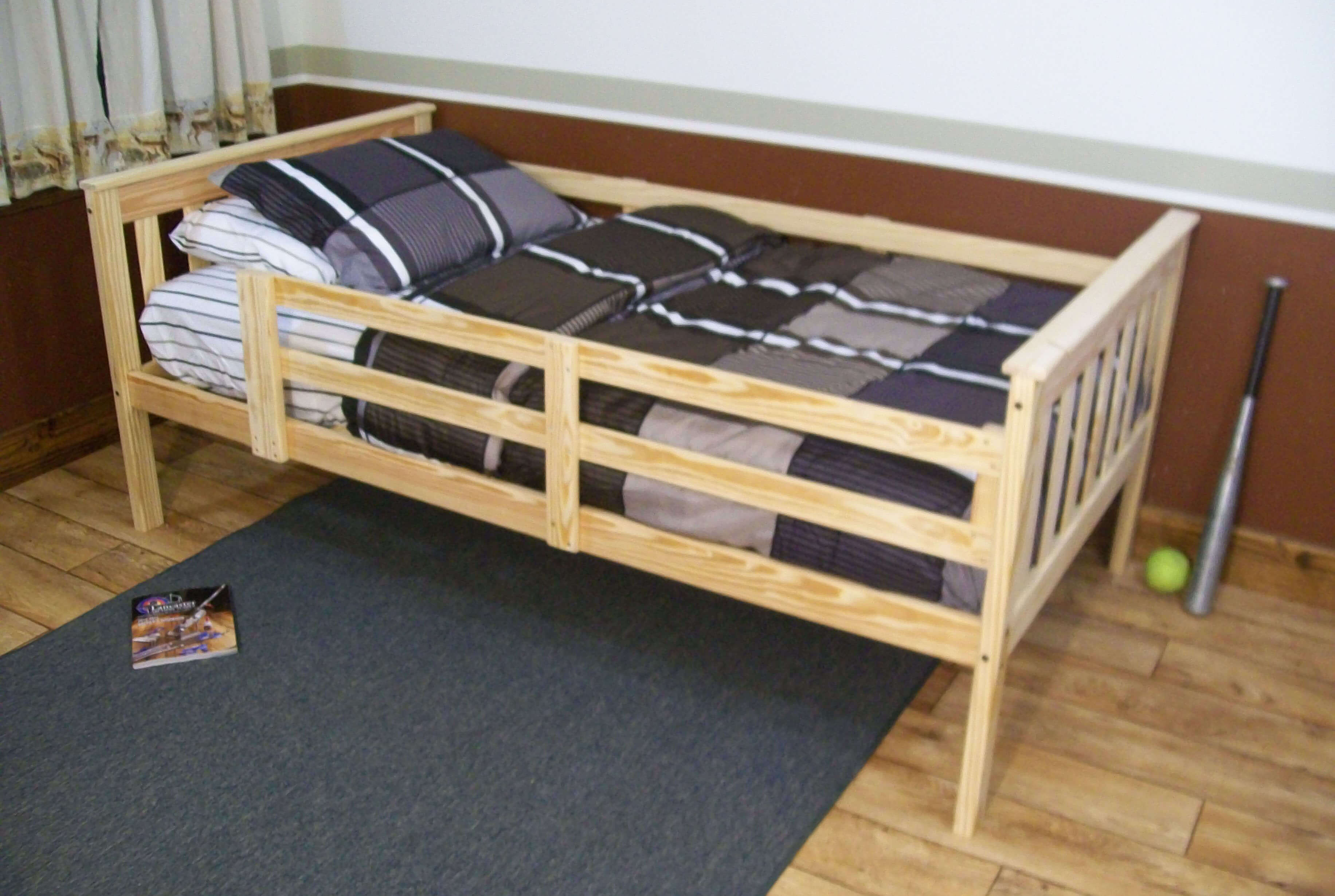 Platform Bed With Guard Rail Versa Style Twin Or Full Size