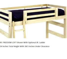 Twin Junior Loft Freedom Style   With Optional Junior Ladder