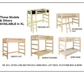 * XL BUNK BEDS AND XL LOFT BEDS – TWIN EXTRA LONG